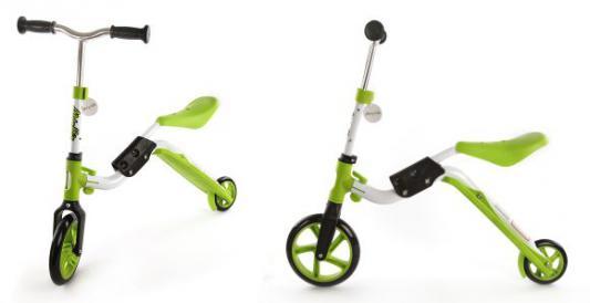 Самокат Moby Kids 2 в 1 зеленый 64626