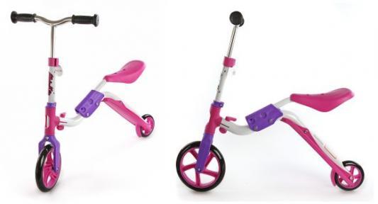 Самокат Moby Kids 2 в 1 розовый 64627