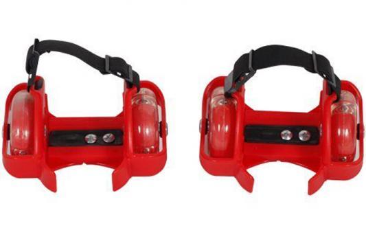Купить Ролики 2кол., свет, красн. Moby Kids 635102, 24, для мальчика, для девочки, Детские ролики