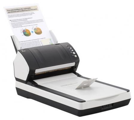 Сканер Fujitsu fi-7240 протяжный А4 600x600 dpi CCD 40ppm USB бело-черный PA03670-B601