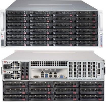 Серверный корпус 4U Supermicro CSE-847BE1C-R1K28LPB 1280 Вт чёрный