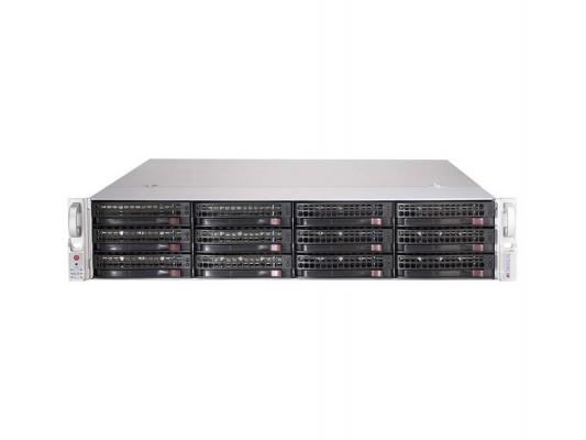 Серверный корпус 2U Supermicro CSE-826BE1C-R741JBOD 740 Вт чёрный cse 826be1c r741jbod