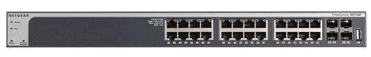 Коммутатор Netgear XS728T-100NES управляемый 24 порта 10/100/1000Mbps 4хSFP
