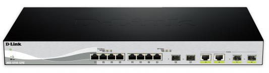 Коммутатор D-LINK DXS-1210-12TC управляемый 8 портов 10/100/1000Mbps 2xSFP