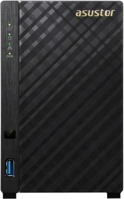 Сетевое хранилище Asustor AS-1002T 2 отсека 512Mb DDR3 SATAll SATAIII SSD GbEx1 USB 3.0 без HDD ytai laptop motherboard for asus a42j k42j x42j k42jr motherboard rev2 0 hm55 ddr3 mainboard with usb power board 100