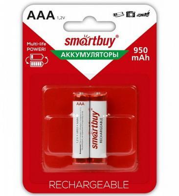 Аккумуляторы Smart Buy SBBR-3A02BL950 AAA 2 шт аккумулятор smartbuy sbbr 3a02bl950 aaa 2 шт