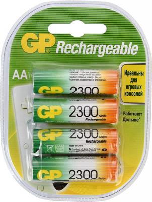 Аккумуляторы 2300 mAh GP 230AAHC-2DECRC4 AA 4 шт зарядное устройство duracell cef14 аккумуляторы 2 х aa2500 mah 2 х aaa850 mah