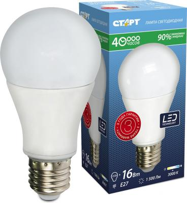 Лампа светодиодная груша СТАРТ LEDGLSE27 16W30 E27 16W 2700K