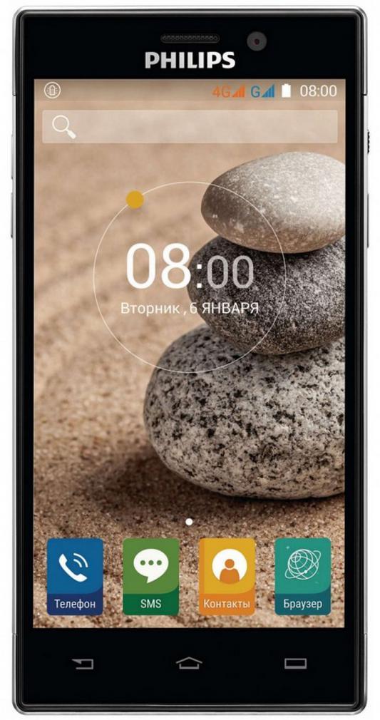 "Смартфон Philips Xenium V787 черный 5"" 16 Гб LTE Wi-Fi GPS 3G"