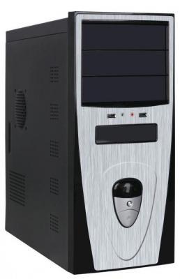 Корпус ATX Super Power QoRi-3345 A11 Без БП чёрный серебристый