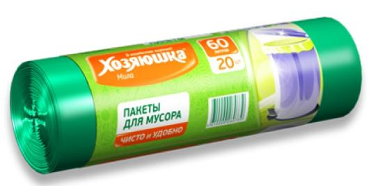 Пакеты для мусора Хозяюшка Мила 07003 салфетка бытовая хозяюшка мила 04001 мила 04001