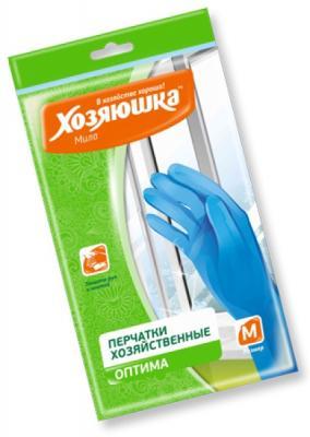 Фото - Перчатки хозяйственные оптима Хозяюшка Мила M 17023 перчатки хозяйственные cherir pg 800 m