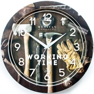 Часы настенные Вега Мастерская П 1-293/7-293 разноцветный часы настенные вега п 4 14 7 86 новогодние подарки