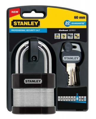 Замок Stanley S 742-007 навесной сталь 60мм