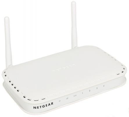 Беспроводной маршрутизатор NETGEAR WNR614-100PES 802.11n 300Mbps 2.4ГГц 4xLAN белый беспроводной маршрутизатор netgear wndr3400 100pes
