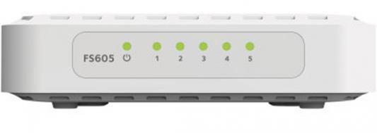 Коммутатор NETGEAR FS605-400PES неуправляемый 5 портов 10/100Mbps