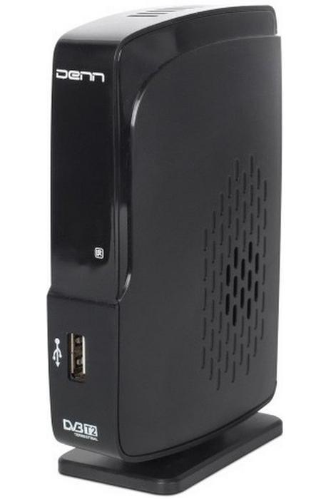 Тюнер цифровой DVB-T2 Denn DDT103 черный