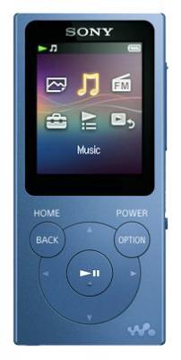 Плеер Sony NW-E394 8Гб голубой  mp3 плеер sony nw e394 flash 8гб красный [nwe394r ee]