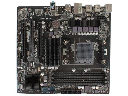 Мат. плата для ПК ASRock 970M Pro3 Socket AM3+ AMD 970 4xDDR3 2xPCI-E 16x 1xPCI 1xPCI-E 1x 6xSATAIII mATX Retail