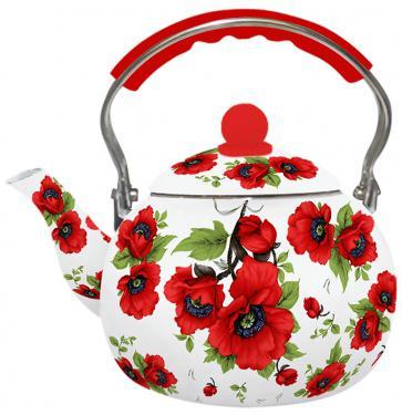 Чайник Zeidan Z-4114-02 рисунок красный 2.5 л нержавеющая сталь чайник zeidan z 4110 2 7 л нержавеющая сталь серебристый