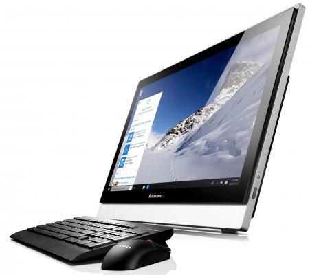 "Моноблок 23"" Lenovo S500z 1920 x 1080 Intel Core i5-6200U 4Gb 1Tb + 8 SSD Intel HD Graphics 520 64 Мб Windows 7 Professional + Windows 10 Professional черный 10K30029RU"