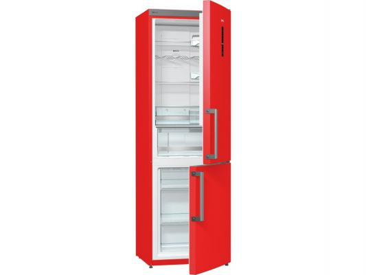 Холодильник Gorenje NRK6192MRD красный