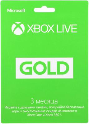 Карта подписки Microsoft Xbox Live на 3 месяца 52K-00271 agents of mayhem steelbook edition карта подписки для xbox one