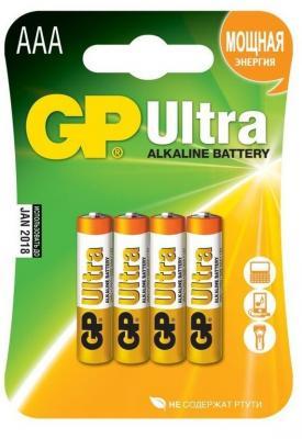 Батарейки GP Ultra Alkaline AAA 4 шт 24AU-U4
