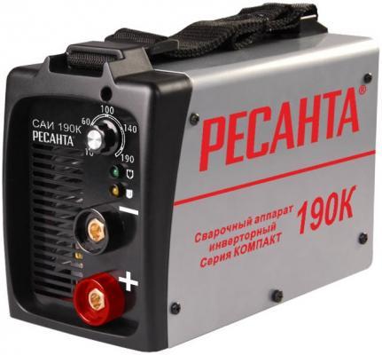 Аппарат сварочный Ресанта САИ 190К 65/36 инверторный аппарат сварочный ресанта саи 160к 65 35