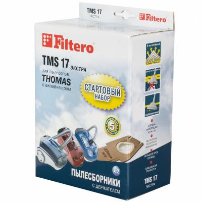 Пылесборники Filtero TMS 17 Стартовый пятислойные 2шт+фильтр 06a133063g 06a 133 063g 408237212007z for audi a3 skoda octavia volkswagen bora golf iv variant throttle body assembly