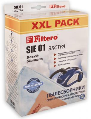 Пылесборники Filtero SIE 01 XXL Экстра пятислойные 8шт пылесборники filtero sie 05 экстра пятислойные 3 шт для пылесосов siemens bosch