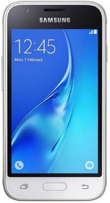 "Смартфон Samsung Galaxy J1 Mini 2016 белый 4"" 8 Гб Wi-Fi GPS SM-J105HZWDSER DUOS"