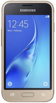 "Смартфон Samsung Galaxy J1 Mini 2016 золотистый 4"" 8 Гб Wi-Fi GPS DUOS SM-J105HZDDSER"