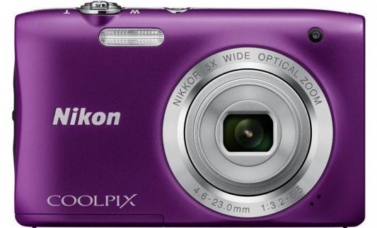 Фотоаппарат Nikon Coolpix A100 20Mp 5x Zoom фиолетовый фотоаппарат nikon coolpix a100 purple lineart 20 1mp 5x zoom sd usb 2 6