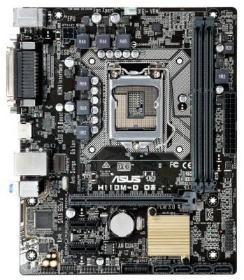 Материнская плата ASUS H110M-D Socket 1151 H110 2xDDR4 1xPCI-E 16x 2xPCI-E 1x 4 mATX Retail