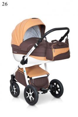 Коляска 3-в-1 Expander Mondo Ecco (26/коричневый-оранжевый) коляска 3 в 1 expander mondo ecco 26 коричневый оранжевый