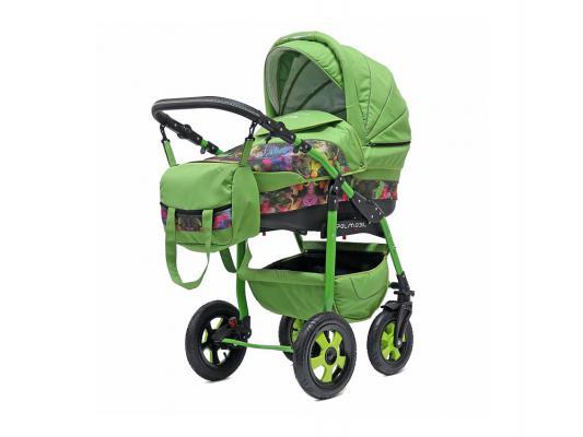 Коляска 2-в-1 Polmobil Diadema Fashion Collection (listva03/зеленый)