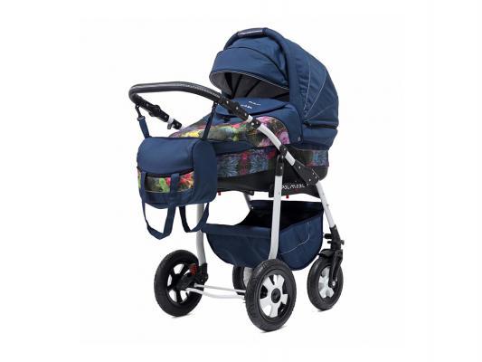 Коляска 2-в-1 Polmobil Diadema Fashion Collection (listva02/синий)