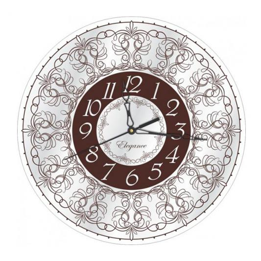 Часы ВЕГА СО 1-12 Узоры кронштейн kromax vega 50 белый