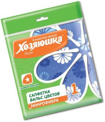 Салфетка универсальная Вальс цветов Хозяюшка Мила 04027