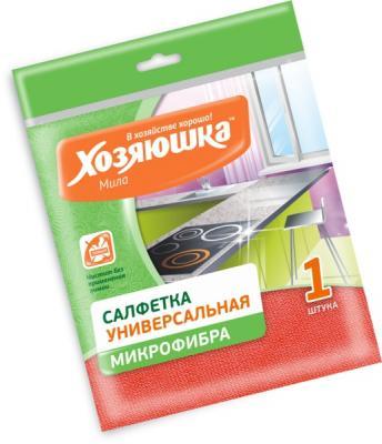 Салфетка для уборки ХОЗЯЮШКА Мила микрофибра 04006