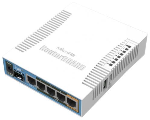 Беcпроводной маршрутизатор MikroTik hAP AC 802.11ac 2.4ГГц и 5ГГЦ 4xGLAN PoE RB962UiGS-5HacT2HnT точка доступа mikrotik hap ac rb962uigs 5hact2hnt