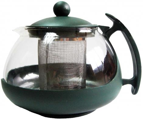 Чайник заварочный Bekker BK-307 0.75 л пластик/стекло чайник заварочный bekker 308 вк 1 25 л пластик стекло фиолетовый