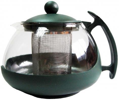 Чайник заварочный Bekker BK-307 0.75 л пластик/стекло чайник заварочный bekker 303 вк серебристый 0 9 л металл пластик