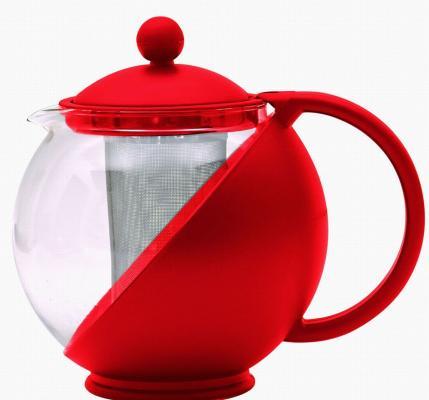 Чайник заварочный Bekker BK-300 красный 0.75 л пластик/стекло