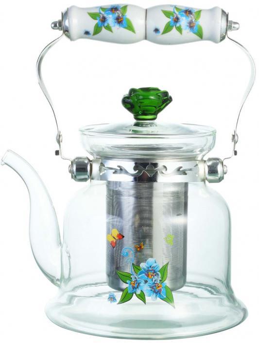 Чайник заварочный Bekker BK-7618 0.9 л стекло рисунок
