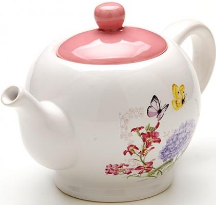 Чайник заварочный Loraine LR-25637 белый 0.95 л керамика