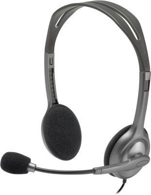 все цены на  Гарнитура Logitech Stereo Headset H111 серый 981-000593  онлайн