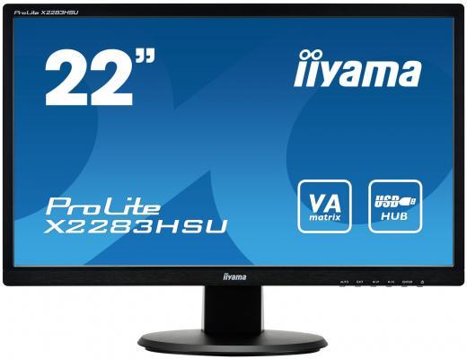 Монитор 21.5 iiYama Pro Lite X2283HSU-B1DP монитор 24 iiyama pro lite xb2483hsu b2