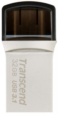 Флешка USB 32Gb Transcend JetFlash 890 TS32GJF890S серебристый флешка usb 32gb transcend jetflash 710 ts32gjf710s серебристый